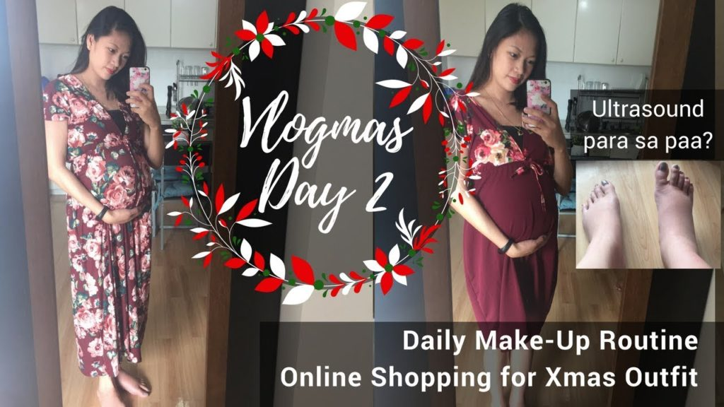 2017 Vlogmas Day 2 | My daily make-up | Breastfeeding friendly Christmas Outfit | Taglish
