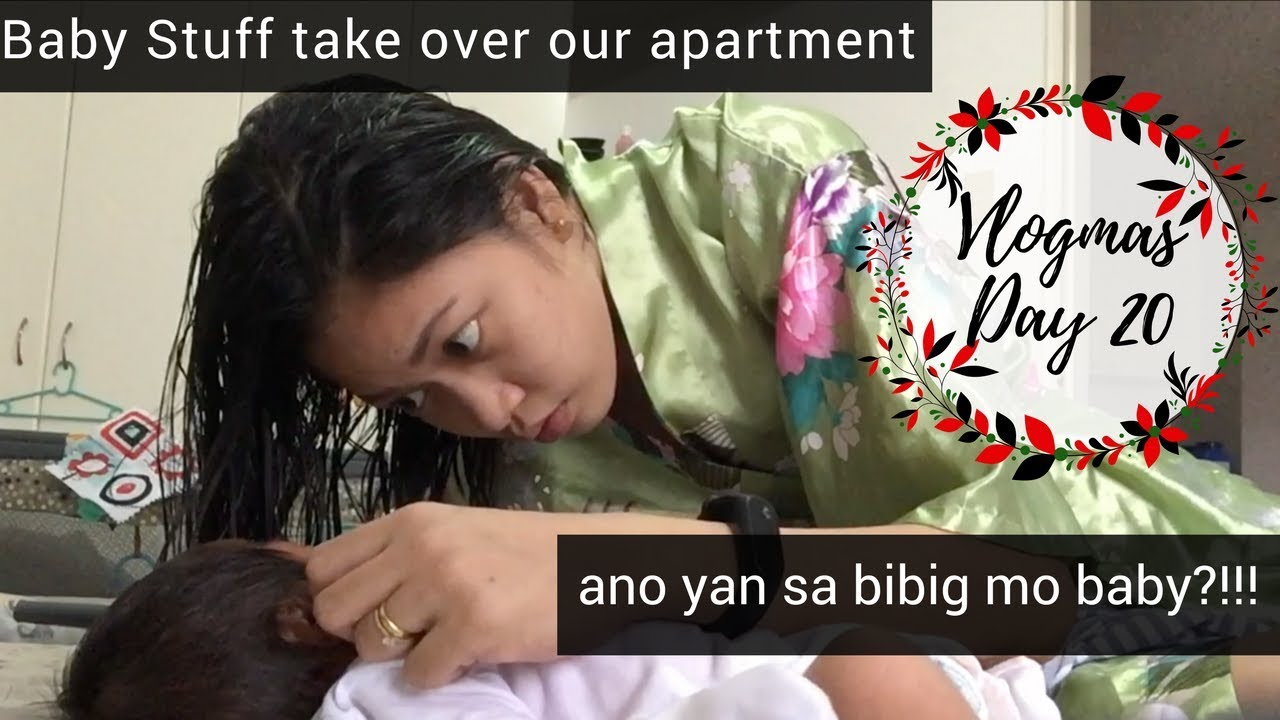 Vlogmas day 20 | Baby Stuff take over our apartment | Taglish