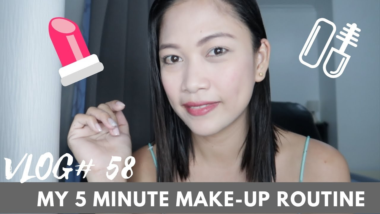 Vlog:58 My 5 minute Make-Up Routine | Mom Edition